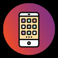 Enage Icons Mobile Purple